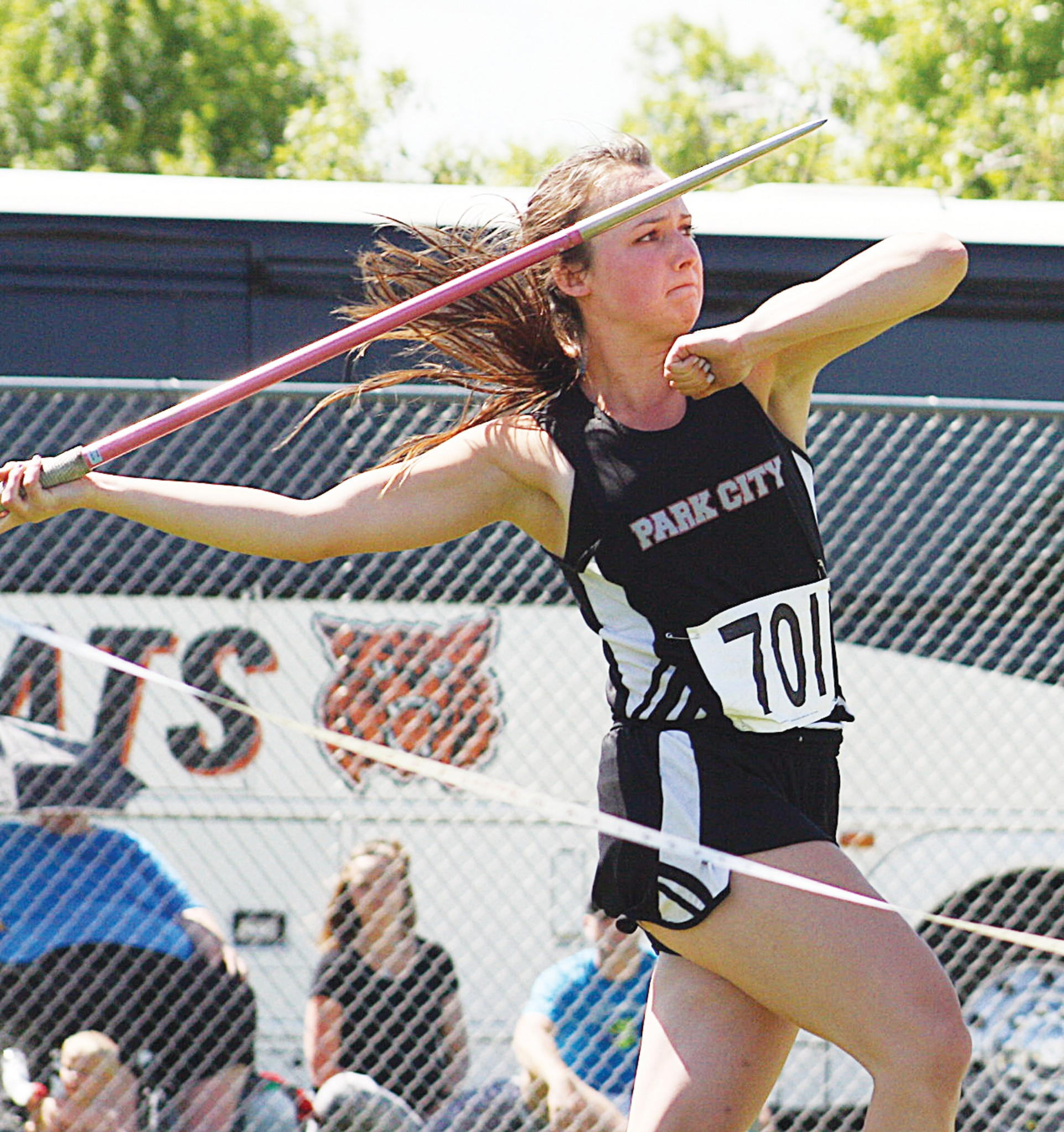Park City's Brittany Frank -- Javelin