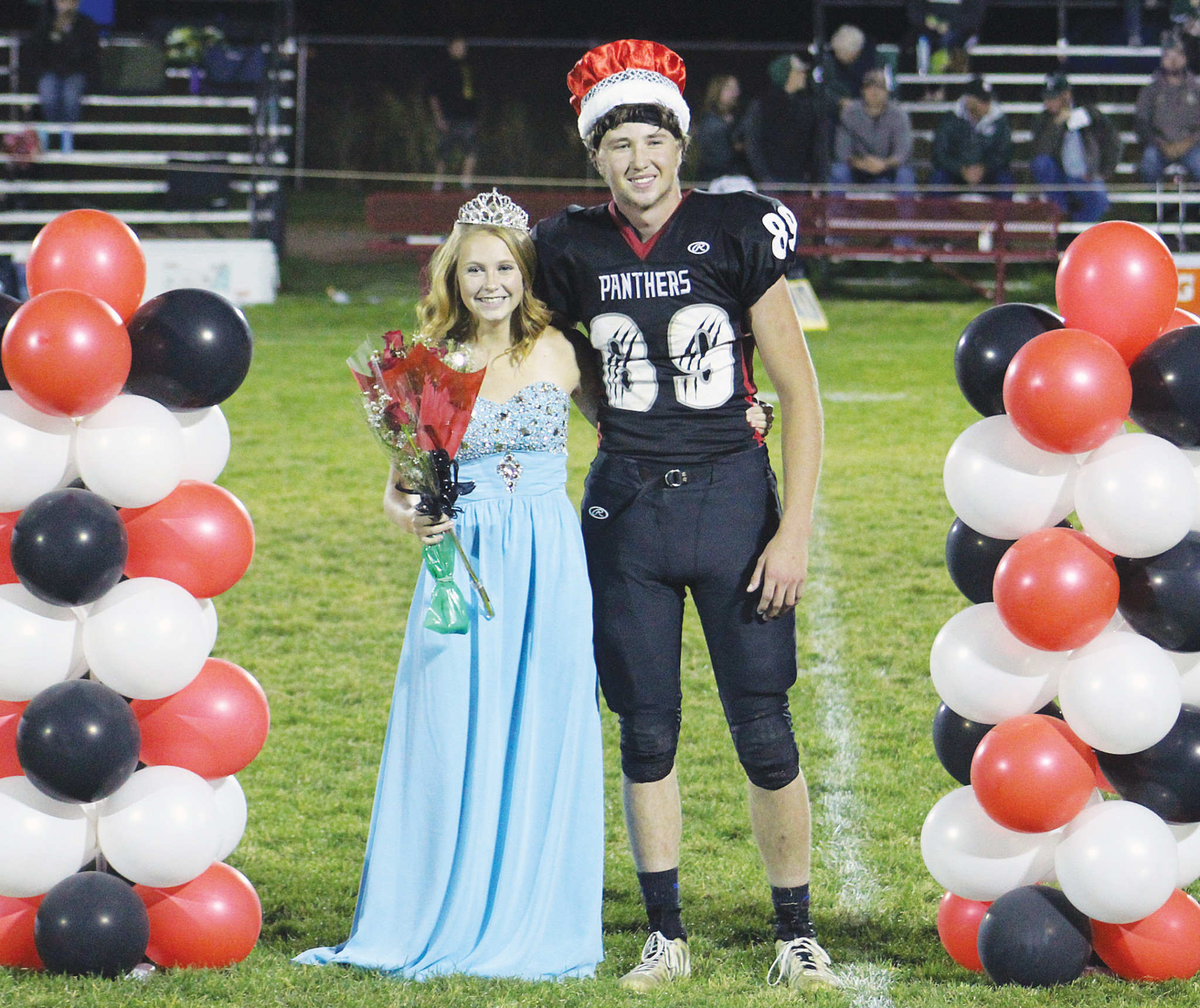 Queen Megan Flemmer and King Jack Bernhardt